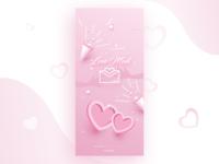 Adobe XD Playoff: Love Mail Splash Screen