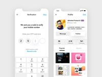User Profile & Mobile Verification Screen