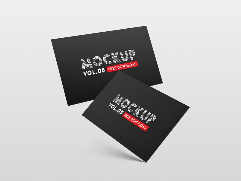 FREEBIE - Business card PSD Mockup Vol. 5 visitingcard template print psd mock-up mockup freebie free card business branding