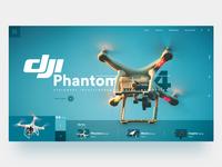 DJI Phantom - Landing Page