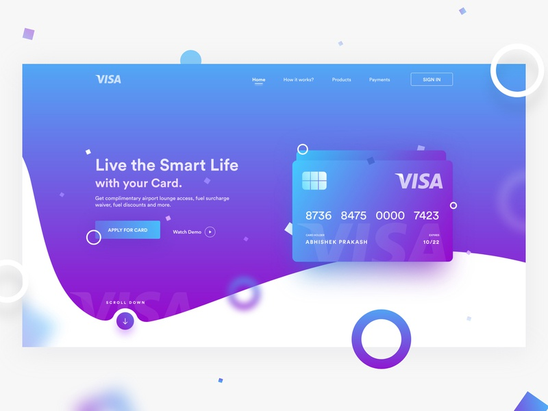 Smart Card - Preview credit card payment banking payment card credit cards credit card landing page web dribbble mobile ui ux design