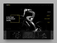 Cycling Apparel - Landing Page