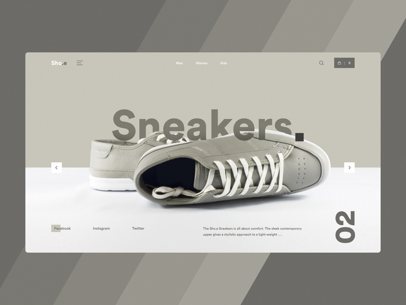 Sneakers - Landing Page shopping home page colours ecommerce web ux ui landing page canvas sneakers shoes buy colors nike puma addias