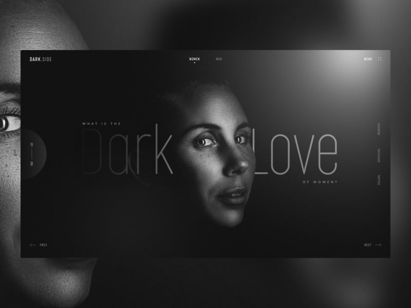 DarkSide - Minimal Landing Page invite creative main love women dark color black typography home page landing landing page ux web dribbble ui design
