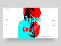 Upside Down - Minimal Landing Page