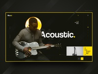 Acoustic - Landing Page