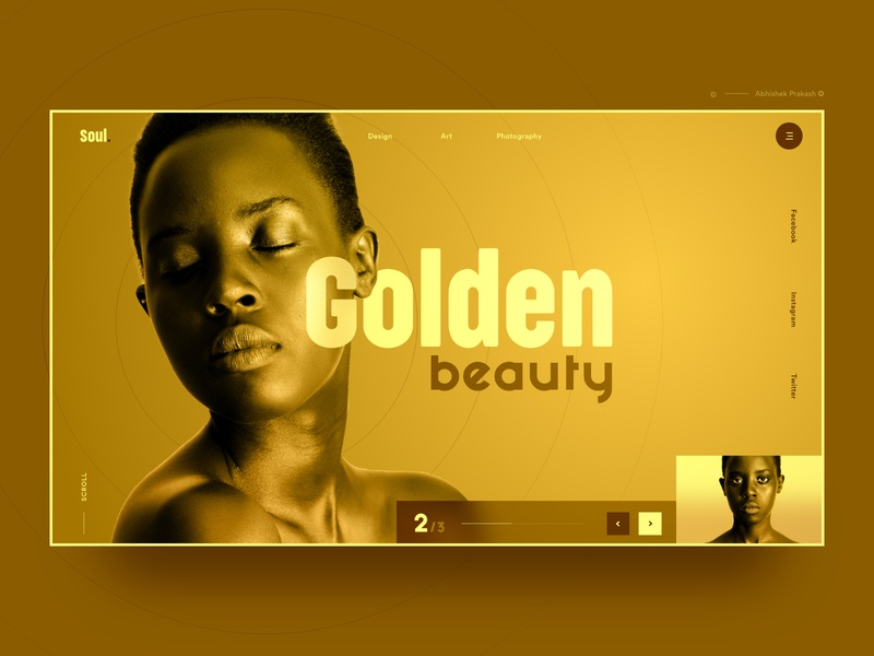 Golden - Landing Page creative invite care beauty soul golden branding color home page typography mobile landing landing page ux web dribbble ui design