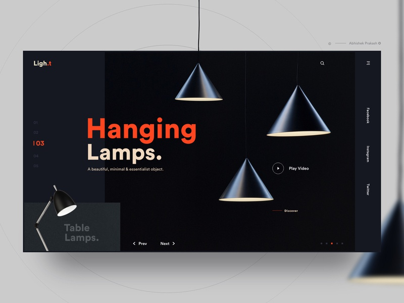 Hanging Lamp electric lamp hanging lamp table lamp light lantern lamp orange dark color mobile home page invite typography landing landing page ux web dribbble ui design