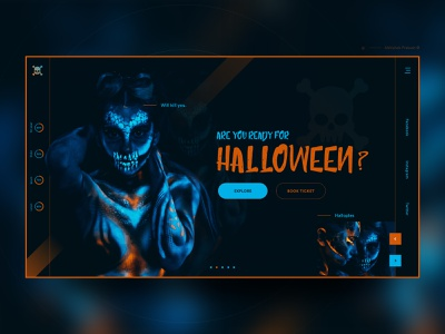Halloween Party 👻 🎃 dark color thriller maxico party halloween bash witch ghost horror halloween home page invite typography landing landing page ux web dribbble ui design