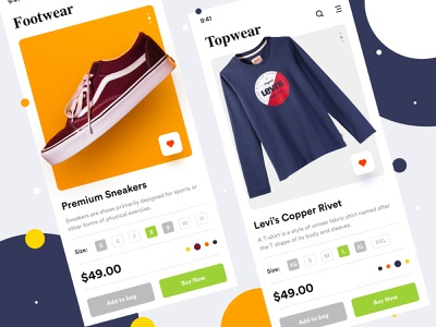 E-commerce Concept - 2 online purchase online store shoes sell buy shopping bag estore online shopping ecommerce shopping color app mobile home page landing page web ux ui dribbble design