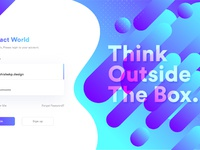 Abstract login page