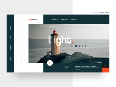 Light House landing  page landing design unique elegant abstract colorful dark light house color app home page typography landing landing page ux web dribbble ui design