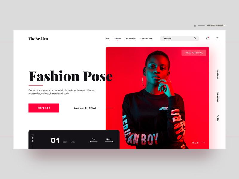 Fashion Pose minimal onlineshopping shop fashion brand fashion blog buy now ecommerce design ecommerce app ecommerce onlineshop color typography home page landing landing page ux web dribbble ui design