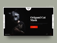 Origami Cat Mask