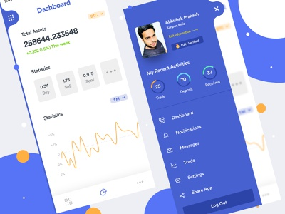 FREEBIE - Crypto Trading Mobile App ethereum bitcoin mining trade ico ios app icon iphone x ios app design android app mobile app dashboard virtual currency trading crypto trading cryptocurrency crypto ux dribbble ui design