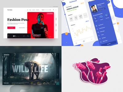 My #Top4Shots from 2018 by Dribbble best four abhishek 2018 best shots top4 dark app mobile home page color landing landing page web ux dribbble ui design
