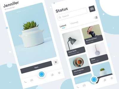 Chat App premium simple clean minimal minimal app iphone x mobile app mobile ui setting camera post news feed feeds status chat chat app color dribbble ui design
