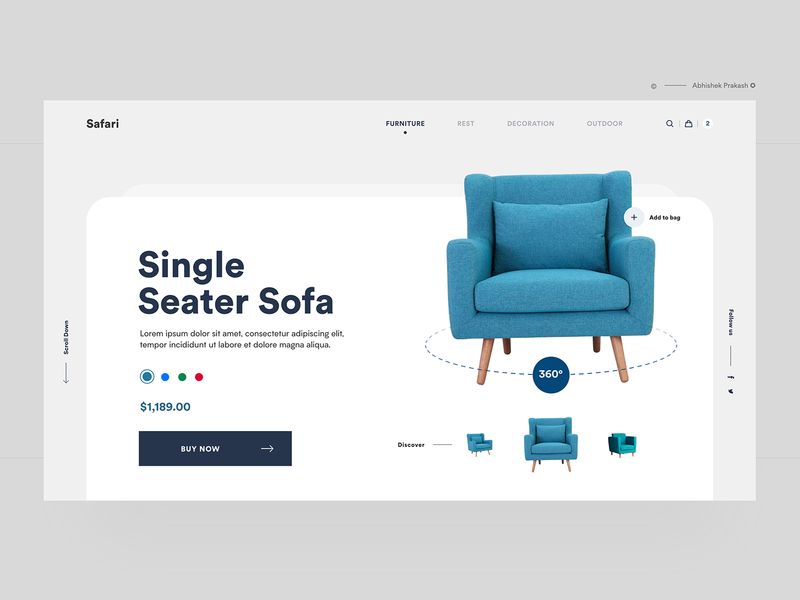 Furniture Landing Page shop sofa home page landing page ecommerce web site web design agency web design web ux ui typography landing ios furniture ecommerce shop ecommerce design clean branding agency