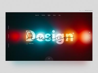 Design Studio web ux ui typography overlays logo landing  landing page home page dribbble designstudio designs designer dark  design creative color branding art