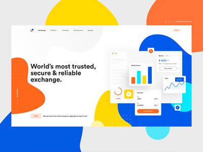 Exchange Platform Landing Page