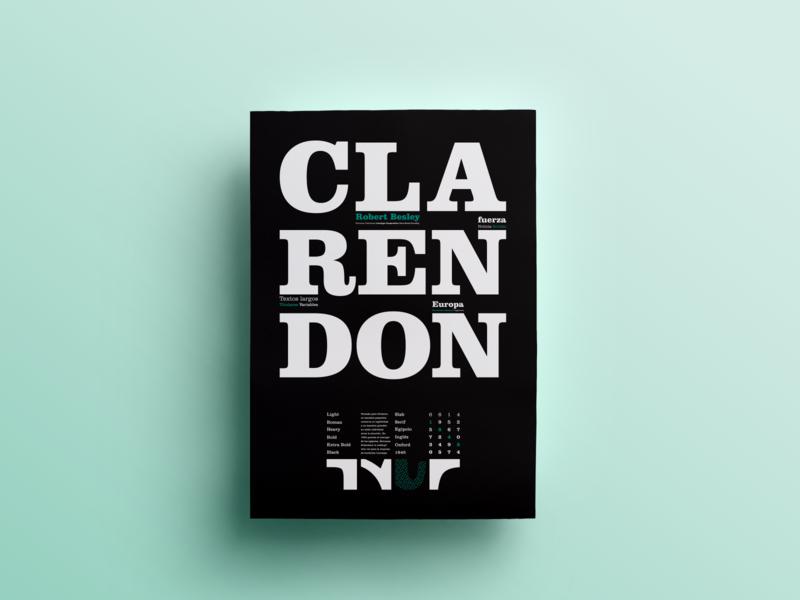 Typographic specimen | Clarendon typogrphic editorial design espécimen tipografía tipo type editorial