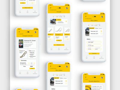 App | Ciudad Autódromo illustration ui logo interaction interface app ux writing ux research ui design uxui ux