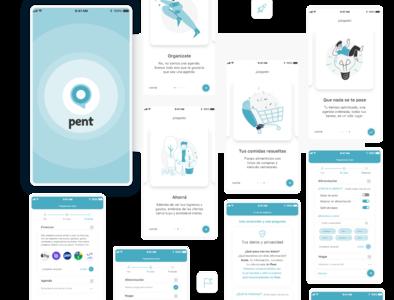 Pent | Daily life app shop home planner finance app ux design ux ui