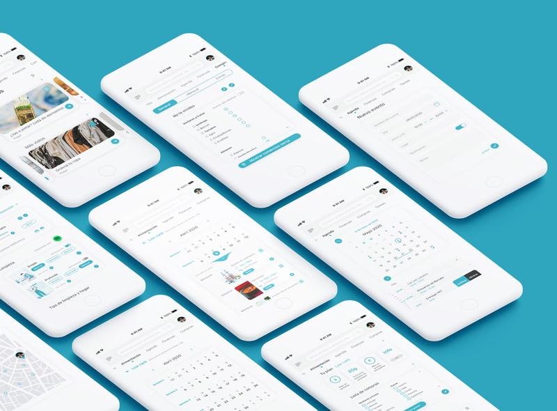 Pent | Daily life app design logo planner calendar food home shop financial ux design ux ui
