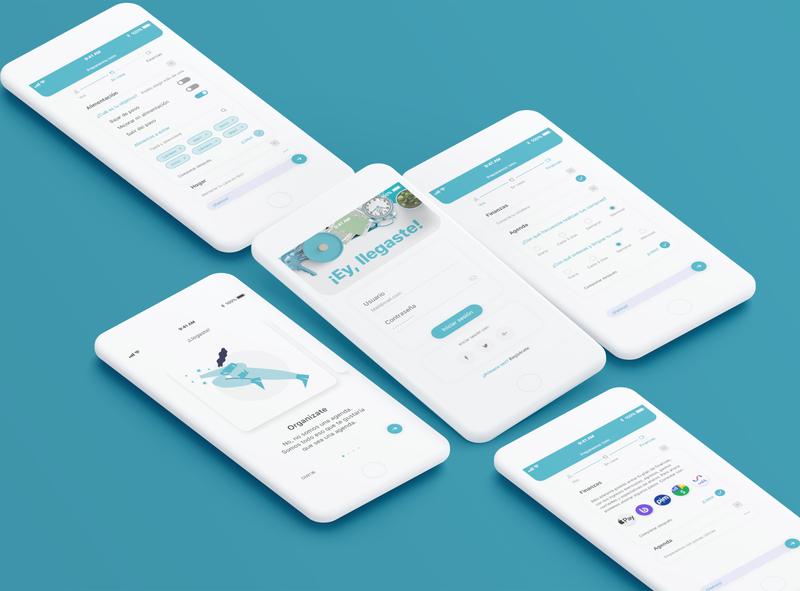 Pent | Daily life app design uidesign uxui uiux app interacción interface ui organization home food menu calendar planner to do list shop finances financial