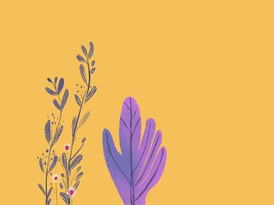 flower hand illustrator 插图