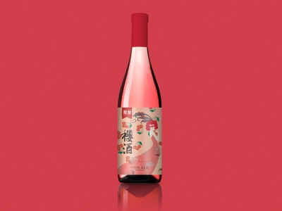 red win package 饮料 packagedesign 品牌 illustrator red bottle