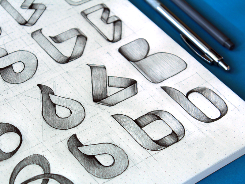 Logo Sketches app logo loggia b base icon sketching sketchbook flat sign branding identity