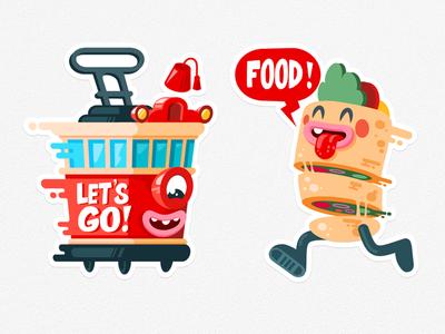 Istanbul Viber Stickers love illustration flat mascot tram turkey food istiklar doner istanbul sticker viber