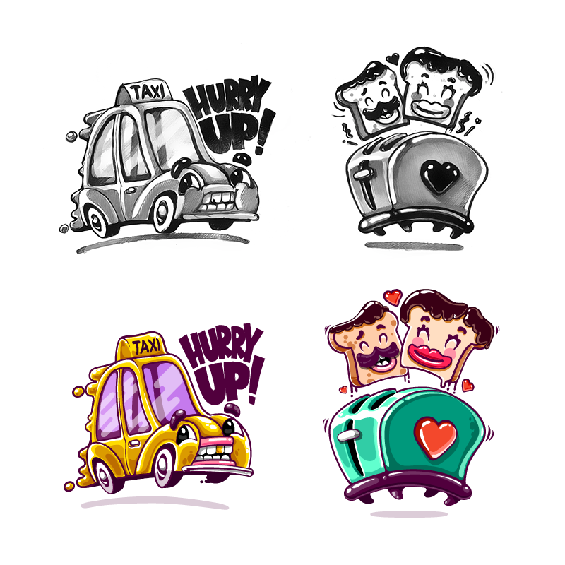 Taxi   toaster of love kik messenger stickers