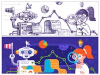 Metrics Web Illustration