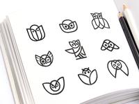 Owl Logo Options