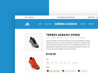 Adidas Outdoor Concept user interface interface detail shop ux ui design