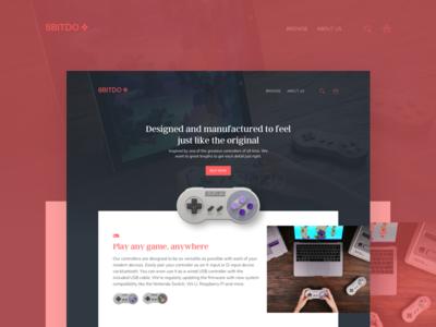 8bitdo - Homepage Redesign