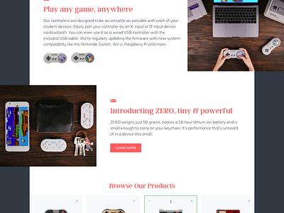 8bitdo - Homepage Redesign marvelapp web design design web ux ecommerce clean interface user user interface ui flat