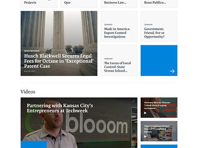 Husch Blackwell Homepage interface episerver web design web ux homepage clean design ui lawfirm legal