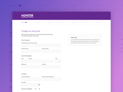 Monster - Create an Account