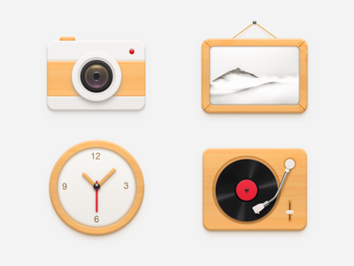 2016.10 Wooden Icons