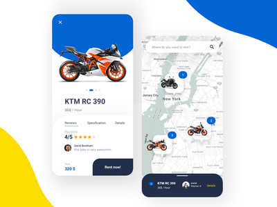 Motorcycle Rental Apps for tiket.com clean uiux mobile apps motorsport rent motorbike motorcycle