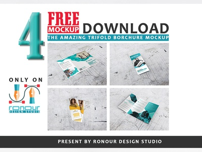 FREE TRIFOLD BROCHURE AMAZING PSD MOCKUP DOWNLOAD