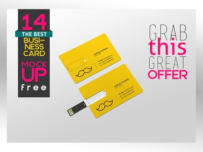 Download Free Business Card MOCKUP !!