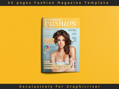 40 Pages Magazine Template