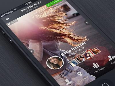 iOs Design - Nightlife App Profile
