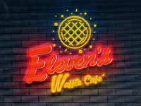 Eleven's Cafe Neon Signage
