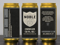Noble Ale Works Crowler Label