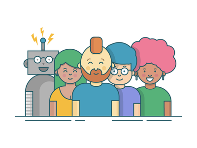 Join our team! join robot team illustration